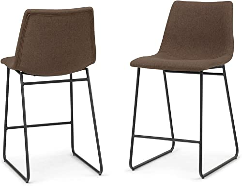 Simpli Home Ridley Contemporary Mid Century 24 inch Counter Stool Set of 2