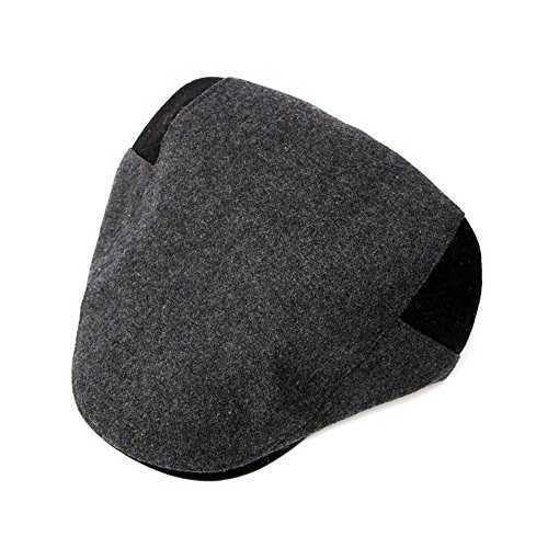 Beret Navidad sombrero beanie MASTER man lengua hat mediana de edad Invierno pato de gorro Halloween adelante o color sombrero gris mediana edad Otoño sombreros Grey U55qr4txwH