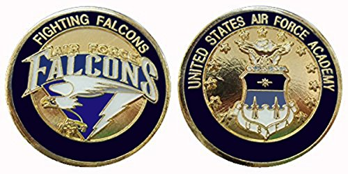 """(United States Air Force Academy """"Fighting Falcons"""" Collectible Challenge Coin - Logo Poker - Lucky Chip)"""