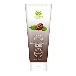 Nature's Gate Natural Body Scrub, Coconut Coffee, Gently Exfoliates, Softens, Hydrates, and Smooths Skin; Vegan, Non GMO, Gluten Free, Paraben Free, and Cruelty Free, 8 Ounce Recyclable Tube