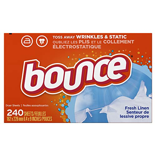 Bounce Fresh Linen Scented Fabric Softener Dryer Sheets, 240 Count ()