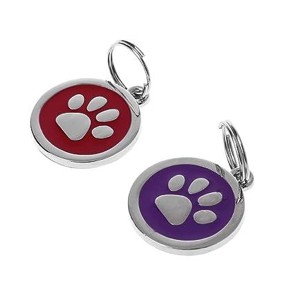Fogun - Placa identificativa para Perro o Gato, con número ...