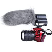 """Movo WS3 Furry Outdoor Microphone Windscreen Muff for Large Shotgun Microphones up to 7"""" X 55mm (L x D) - Fits the Rode Videomic, TAKSTAR SGC-598 & Similar Mics"""