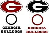 Georgia Bulldogs Cornhole Decal Set - 6 Cornhole Decals Free Circles