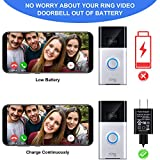 16 ft/ 5 m Charge Cable with DC Power Adapter Compatible with Ring Video Doorbell 1/2, Continuously Charging, No Need to Change the Batteries (for Ring Doorbell 1)
