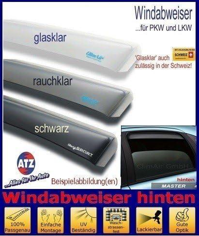 Farbausf/ührung schwarz Climair Windabweiser hinten 04-4267D