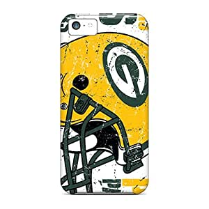 Shock Absorbent Hard Phone Cases For Iphone 5c (QvL15196xVad) Allow Personal Design Nice Green Bay Packers Skin