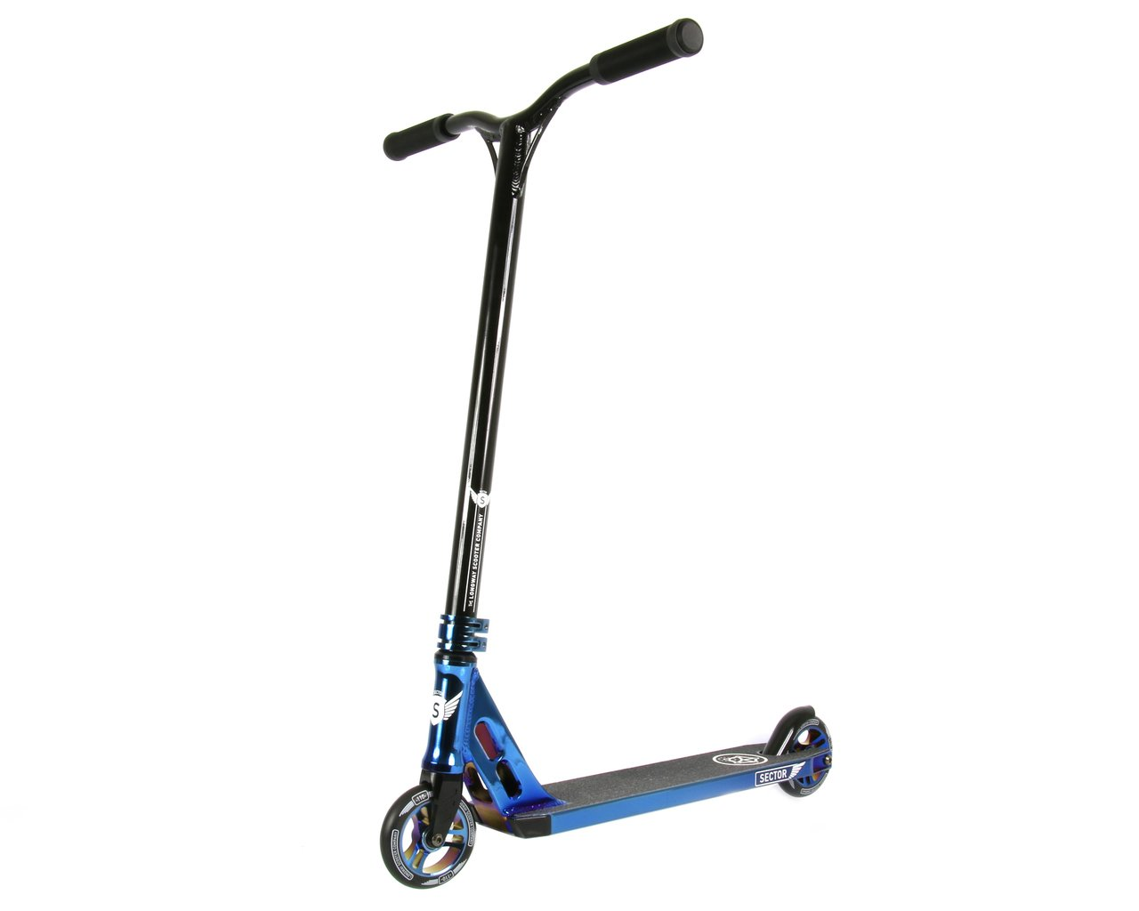 Sector Trick Stunt Complete Scooter - Perfect Kick Push Scooter for Intermediate/Advanced - Premium Colors - Quality Freestyle Setup for Affordable Price - Durable, Light, Easy Setup (Blue Neo Chrome)