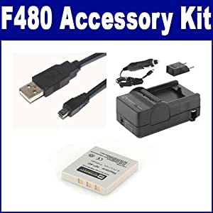 Fujifilm FInepix F480 Digital Camera Accessory Kit includes: USB8PIN USB Cable, SDNP40 Battery, SDM-142 Charger