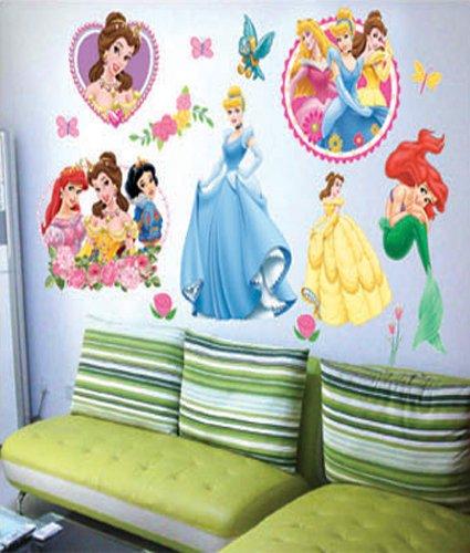 Wandaufkleber Wandtattoo Wandsticker Disney Princess Kind ...