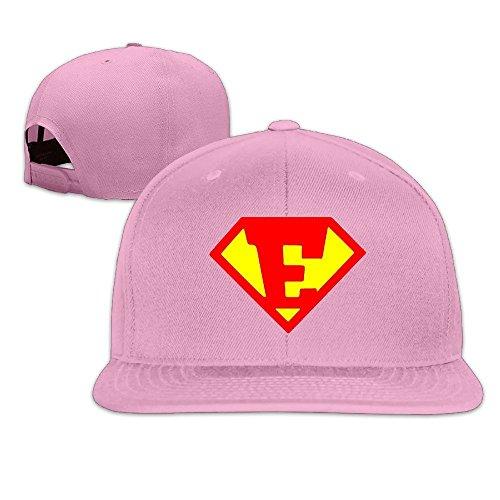 Custom Unisex-Adult Diamond Cartoon Letter E Logo Adjustable Hip Hop Caps Hat Pink