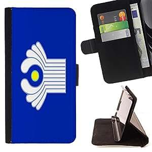 Pattern Queen - Flag - FOR Apple Iphone 5C - Funda de cuero ranuras para tarjetas de credito de la cubierta Flio tarjeta de la carpeta del tiron