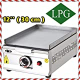 12 '' ( 30 cm ) PROPANE GAS Commercial Kitchen Equipment Countertop Flat Top Restaurant Grill Cooktop Manual Griddle PROPAN LPG
