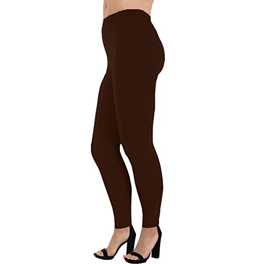 254ecddb7bf29 LAVRA Women's Plus Size Fleece Full Length Leggings-Brown at Amazon Women's  Clothing store: