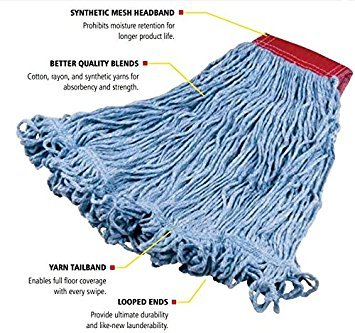 Rubbermaid Commercial Super Stitch Blend Large Mop Heads - Two (2) - Heads Large