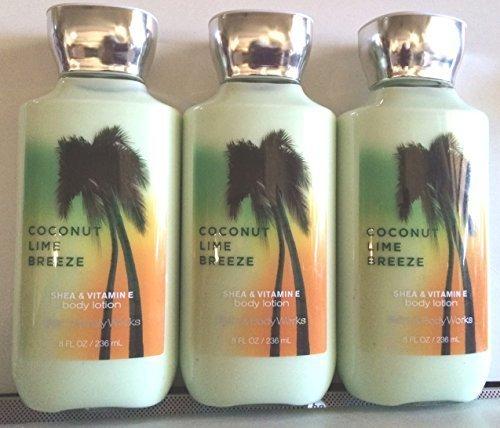 (3 X Coconut Lime Breeze Body Lotion Cream 8 Oz Each (Set of 3))
