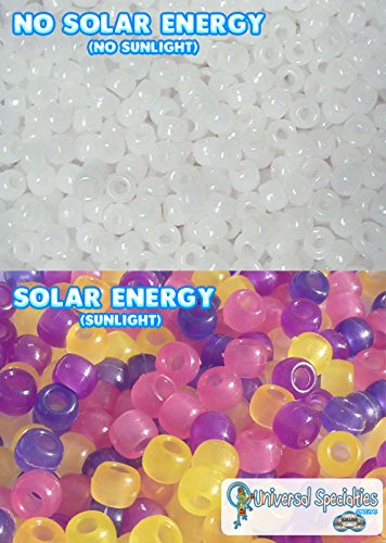 Universal Specialties Ultraviolet Detecting Solar Beads with Lesson Plan, Pack of 250 (Beads Jewelry Solar)