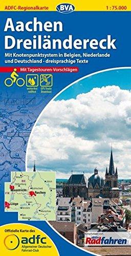 ADFC-Regionalkarte Aachen /Dreiländereck mit Tagestouren-Vorschlägen, 1:75.000, reiß- und wetterfest, GPS-Tracks Download: Mit Knotenpunktsystem in ... Texte (ADFC-Regionalkarte 1:75000)
