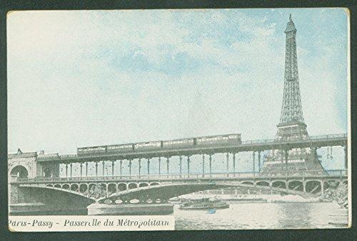 Paris Passy FRANCE Railroad Metropolitan Commuter Metro Passenger Train Postcard