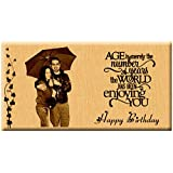 Age is Merely the Number - Unique Engraved Birthday Personalized Gift (7x4 inches)