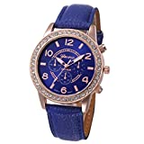 CLEARANCE!! Watches Sonnena Women's Watch Geneva Luxury Diamond Fashion Watch Analog Quartz Wrist Watch, 2018 Wrist Watch for Party Club Casual Watches Stainless Steel Watch (Watch, Navy Blue)