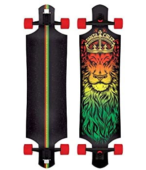 Santa Cruz Lion God Rasta Drop Thru Cruzer Freeride Longboard Deck 40""
