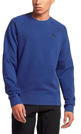 Nike SB Everett Crew Mens Sweatshirt Pullover (Large, Deep Night/Black)