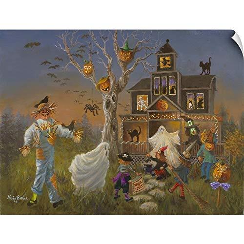 CANVAS ON DEMAND Spooky Halloween Wall Peel Art Print, 30