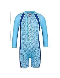 Sun Emporium Baby Boys Blue Tee Pee Print UPF50+ Protective Sun Suit 6-18M