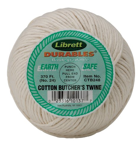 Librett Durables Butchers Twine, Cotton, 370-Feet, Made in (Brining Thanksgiving Turkey)
