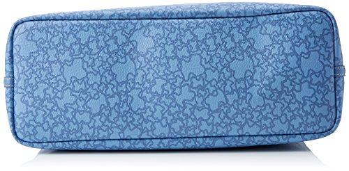 Tous Damen Kaos Mini Super Gran Tote, Blau (jeans), 14x29x40 Centimetri