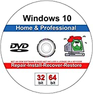 9th and Vine Compatible Windows 10 Home and Professional 32/64 Bit DVD. Install To Factory Fresh, Recover, Rep
