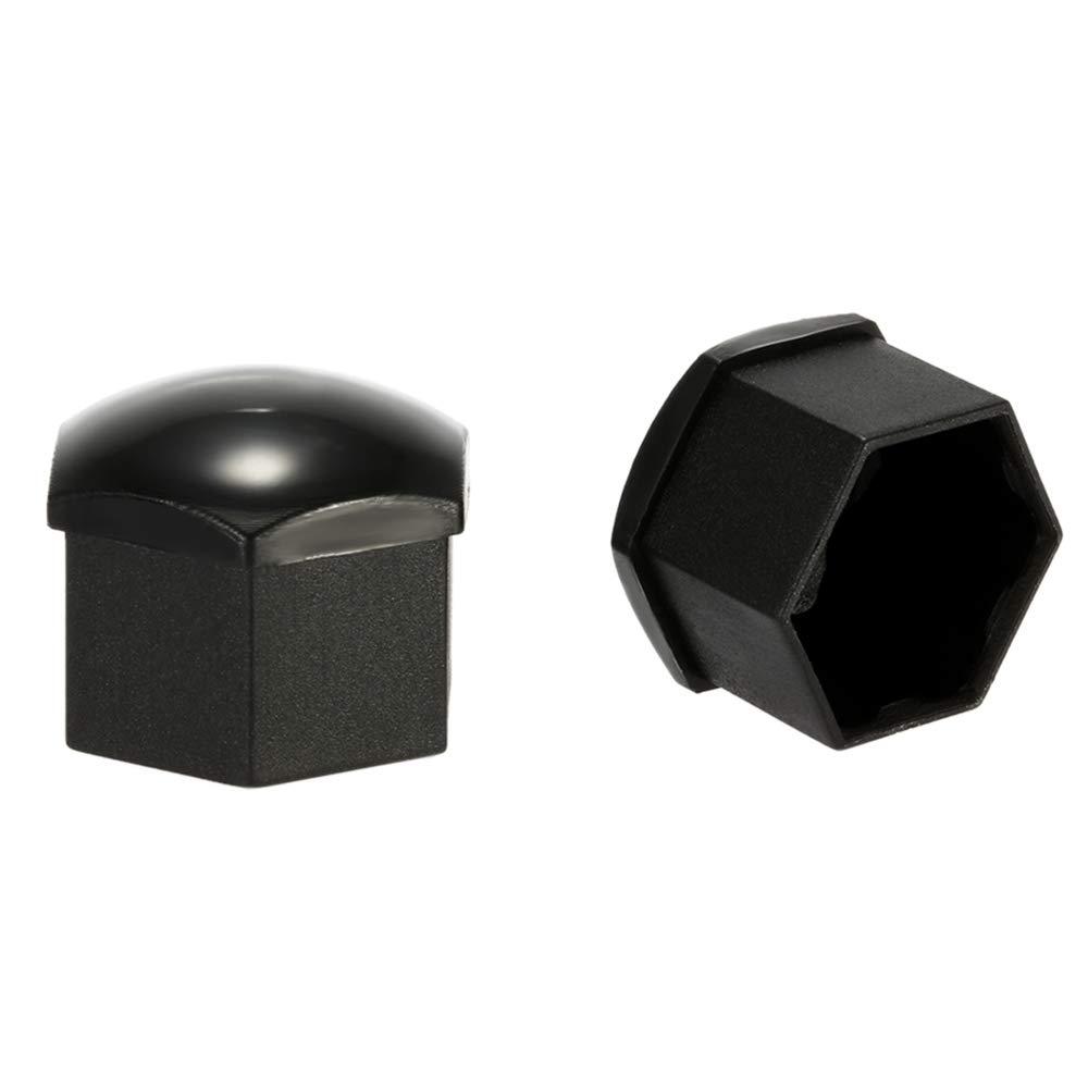 20Pcs Black Car Wheel Bolt Head Nut Cap Covers 17mm Removal Tool Universal Set for Cars Black
