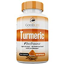 GoodLife Nutrition Turmeric Curcumin With BioPerine Dietary Supplement 60 Veggie Capsules With 95% Powerful Curcuminoids | Promote Strong Heart, Improve Heath, Soothe Joint Pains & Fight Aging Signs