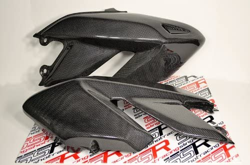 Up to 2012 Ducati Hypermotard 796 1100 1100S EVO//SP Carbon Fiber Gas Fuel Tank Side Covers Panels