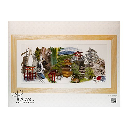 Thea Gouverneur 548A Japan on 18 Count Aida, Counted Cross Stitch Kit, ()