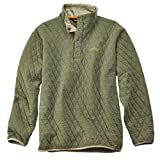 Orvis Trout Bum Quilted Snap Sweatshirt/Trout Bum Quilted Snap Sweatshirt, Olive Heather, Large