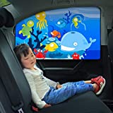 DeemoShop Magnetic Car Side Window Sunshade Curtains Adjustable Car Styling Auto Windows Sun Visor Animal Pattern Blinds Cover Sun Shade