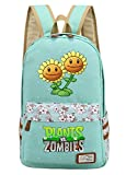 Siawasey Cute Plants Zombie Hot Game Bookbag College Bag Backpack School Bag(Green)