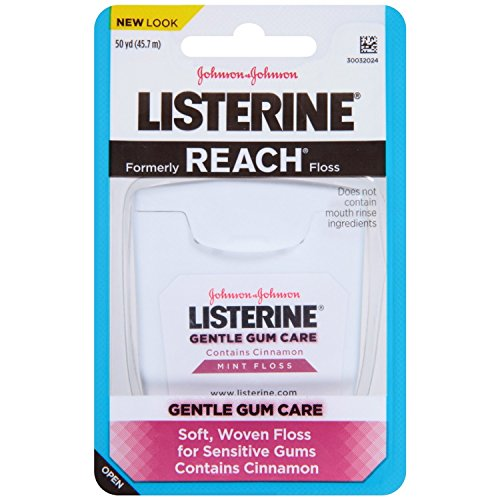 (Listerine Gentle Gum Care Woven Floss, Mint with Cinnamon, 6 Count)