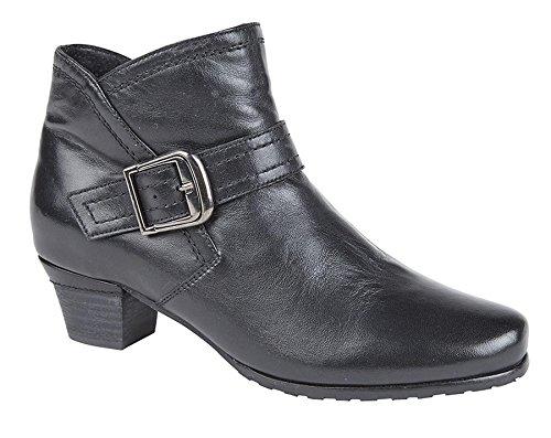 Mod Comfys Womens Leather Boots 7 Black cZBhJ