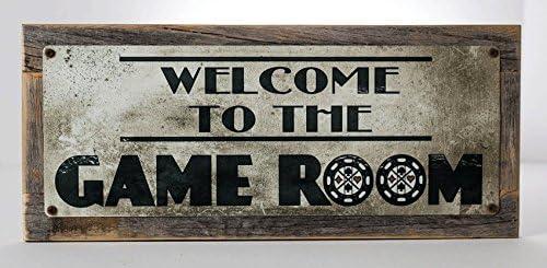 Amazon.com: Enmarcado Bienvenido a la Sala de juegos ...
