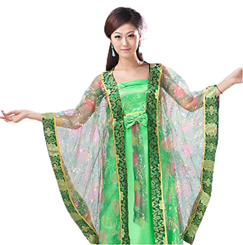 Bysun chinese women's Guzheng stage costume Light GreenM