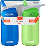 CamelBak Eddy Kids 2-Pack Waterbottle, Blue/Grass, 4 L