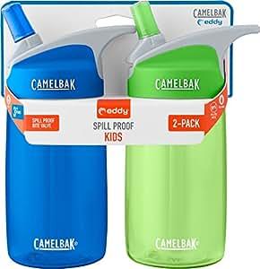 CamelBak Eddy Kids 2-Pack Waterbottle, Blue/Grass, 4 L