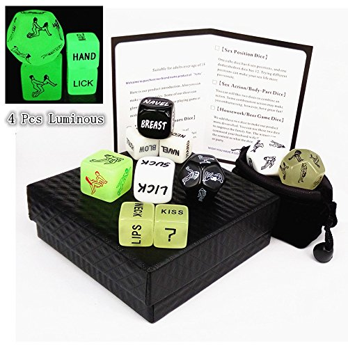 Adult Dice Erotic Dice 12 Sides Love Dice Nights Love Toy for Sex Game Bachelor Party Couple Gift
