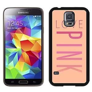 Unique Samsung Galaxy S5 Case Design with Victoria's Secret Love Pink 10 Black Samsung Galaxy S5 Phone Case