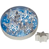 Fox Run 36091 Snowflake Cookie Cutter Set, Stainless Steel, 5-Piece
