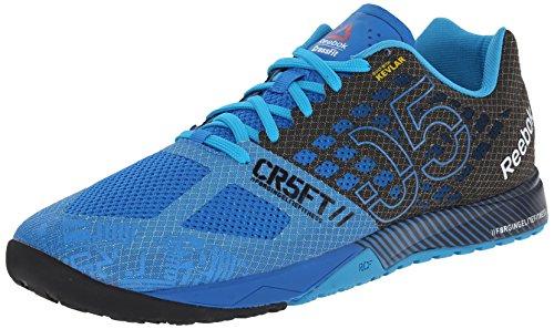 Reebok Men's Crossfit Nano 5.0 Training Shoe, Cycle Blue/Black/Far Out Blue, 7.5 M US