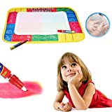 Cinhent Toys Fantasy & Sci-Fi Water Drawing Painting Writing Mat Board 2 Magic Pens Doodle Educational Gift 50X36 CM (Pens Colors Random)